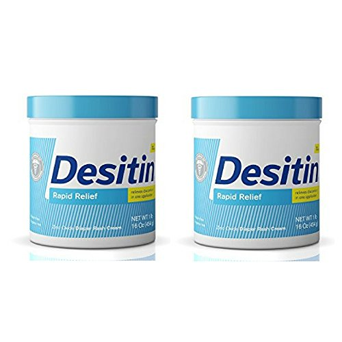 Diaper Cream Fragrance - Desitin Rapid Relief Diaper Rash Remedy, Fragrance-Free Cream (2 Pack)