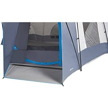 16 Person 23.5 x 18.5 with 3 doors and 3 rooms Cabin Tent in Grey Blue