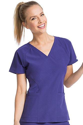- Med Couture Women's 'Air Collection' Raglan Sleeve Spirit Scrub Top, Grape/Signature Purple, Large