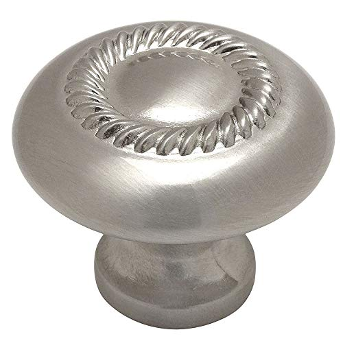 Cosmas 228SN Satin Nickel Rope Cabinet Hardware Knob - 1-1/4