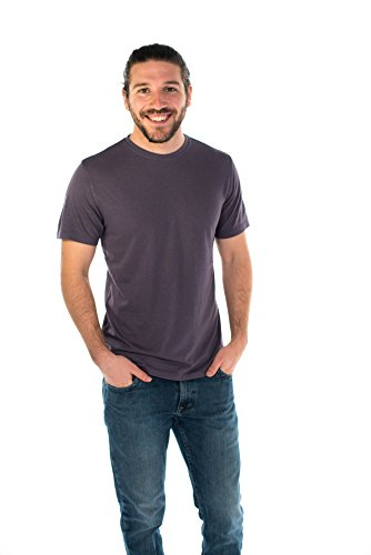 (ONNO Men's Bamboo T-Shirt XL Dirty Purple)