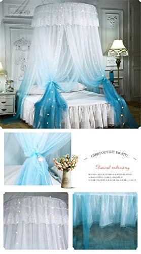 XDWN Mosquito Net Round Lace Dome Bed Canopy Netting Fashion Princess for King Size Bed,Purple - Fashion Bed Canopy Bed