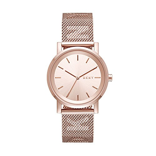 Dkny Gold Watch (DKNY Women's 'SoHo' Quartz Stainless Steel Casual Watch, Color:Rose Gold-Toned (Model: NY2622))