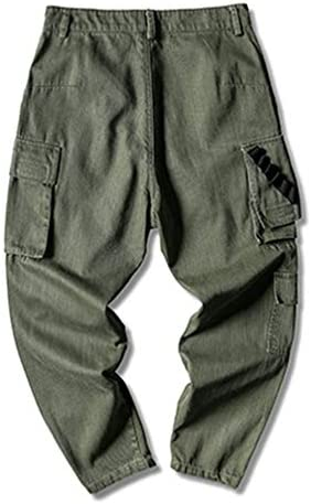 ズボン メンズ カーゴパンツ 通学 コットン ロング かっこいい ポケット ゆったり 作業ズボン アウトドア 作業着 クライミングパンツ ファッション 緑 ブラック