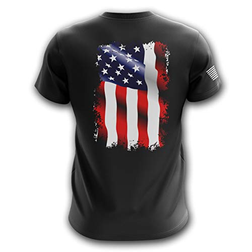 Tactical Pro Supply American Flag Military Army Mens T Shirt (Waving Flag, Large)