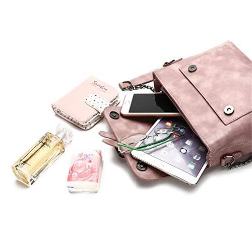 Mini Pelle Messenger Donna Classici Spalla Rosa Casual Borse Mano Tracolla Università Multifunzione Semplice Leggero Impermeabile Borsa Moda A Skitor 0x4qvx