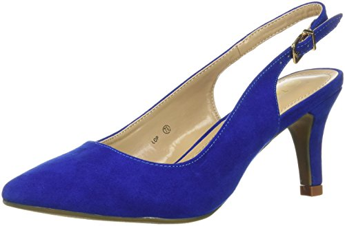 DREAM PAIRS Womens Lop Pump Royal Blue
