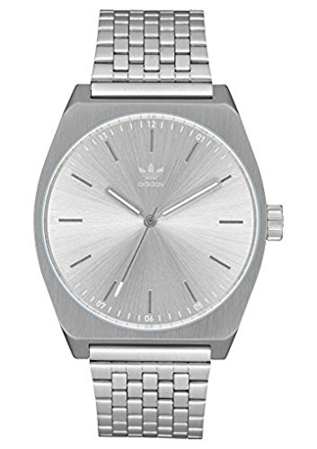 adidas Watches Process_M1. 6 Link Stainless Steel Bracelet, 20mm Width (All Silver. 38 mm).