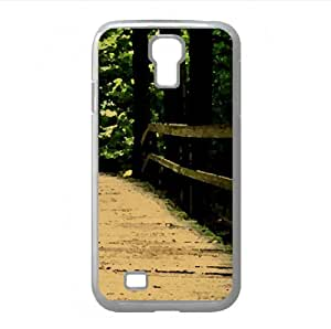 lintao diy Bridge in the Wood Watercolor style Cover Samsung Galaxy S4 I9500 Case (Forests Watercolor style Cover Samsung Galaxy S4 I9500 Case)