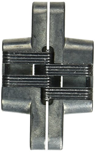 (SOSS 204 Zinc Invisible Hinge with Holes for Wood or Metal Applications, Mortise Mounting, Unplated (Pack of 2))
