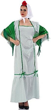 Disfraz de Chulapa Madrileña Verde para mujer: Amazon.es: Juguetes y juegos
