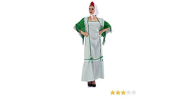Disfraz de Chulapa Madrileña Verde para mujer: Amazon.es: Juguetes ...