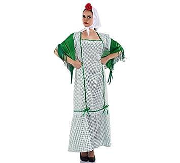 Disfraz de Chulapa Madrileña Verde para mujer
