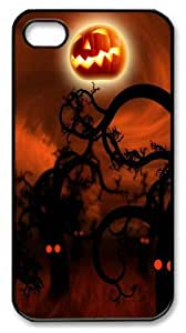 halloween Festival PC Case Cover for iPhone 4 and iPhone 4s Black