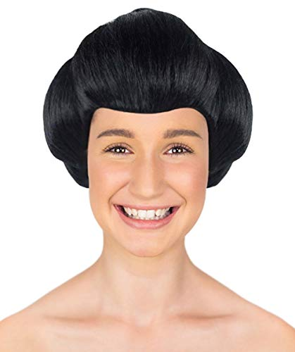 Halloween Party Online Japanese Geisha Wig, Black Adult HW-1715A