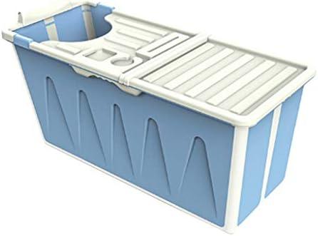 浴槽折りたたみ式大人用浴槽家庭用大人用子供用全身浴用バケツ家庭用浴槽大人用浴槽折りたたみ式収納タブ大人用子供用全身浴槽 浴室用設備 (Color : Blue, Size : 120*53*53cm)