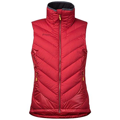 Bergans - Damen Daunenweste, Winddicht - Wasserdicht, Nosi Hybrid Down Lady Vest (7663) Red / Burgundy