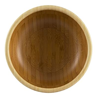 """Totally Bamboo 6"""" Classic Bowl, Beautiful Two-tone Bamboo Bowl works for Individual Servings, Food Prep and More"""