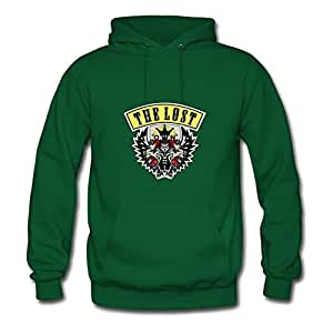 Custom Casual The Lost - Tiger Printed Hoodies In Green Women Cotton X-large