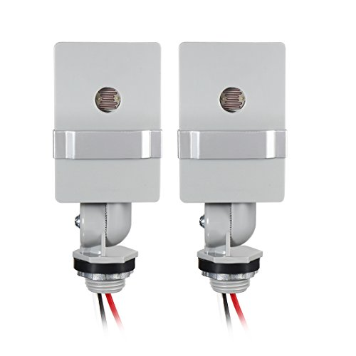 (uxcell 120V Stem Mount Thermal Photocontrol Hard-Wired Post Eye Light Control with Photocell Light Sensor-2 Packs (JL-106A))