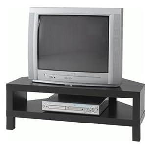 ikea lack corner tv stand black brown kitchen home. Black Bedroom Furniture Sets. Home Design Ideas
