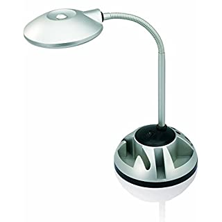 V-LIGHT LED Energy-Efficient Desk Lamp with Rotating Organizer Base (VS81205S)