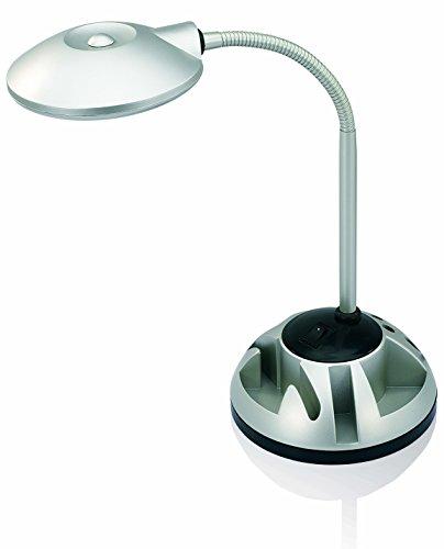 V-LIGHT LED Energy-Efficient Desk Lamp with Rotating Organizer Base (VS81205S)