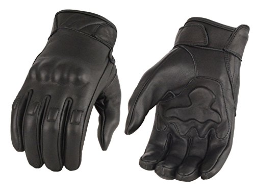 - Men's Leather Glove w/ Gel Palm & Knuckle Protectors (Large)