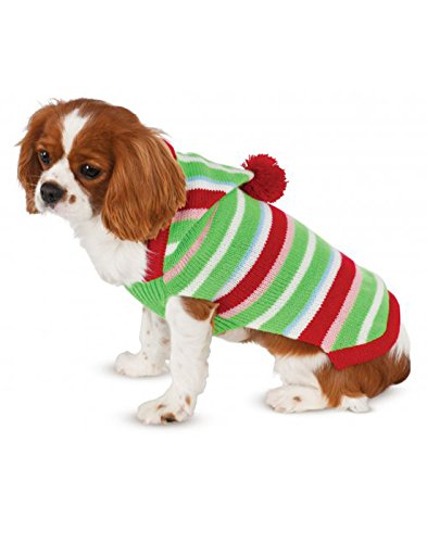 - Candy Striped Knit Pet Sweater, Medium