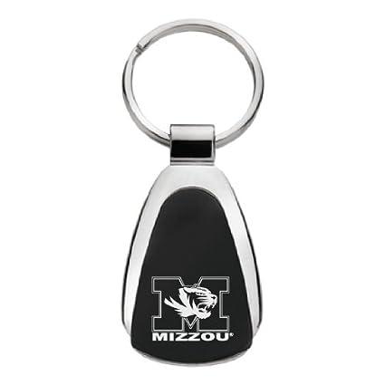 University of Missouri Teardrop Keychain Gold