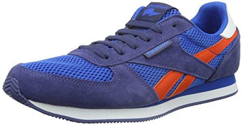 Reebok Royal Cljogger Zapatillas de running, Hombre Azul / Naranja / Blanco (Blue Sport / Midnight Blue / Energy Orange / W)