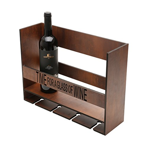WoodArt Wine Rack/Cellar/Storage- Free Standing, No Assembly Required (4 bottles, Time for a Glass of Wine) by Wolff