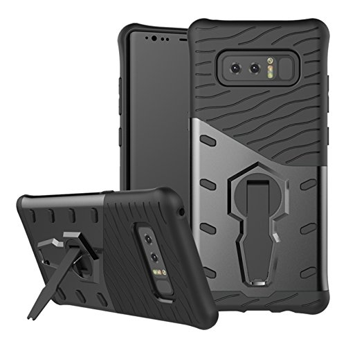 Galaxy Note 8 Case SunRemex Durable Armor with Full Body Protective and Heavy Duty Protection and 360 Degree Rotating Kickstand Design for Samsung Galaxy Note 8(2017)