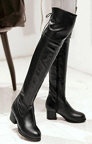 Keen Up Black Block Women's Chic Aisun Heels Above Zip The Medium Booties nYPPz7xq