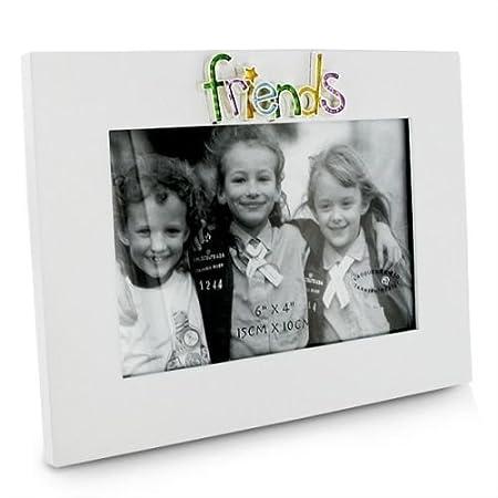 White 6x4 Friends Photo Frame by ukgiftstoreonline: Amazon.co.uk ...