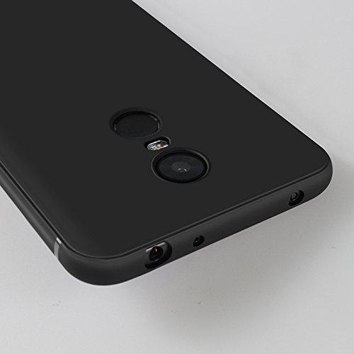 Funda para Xiaomi Redmi 5 Plus , IJIA Puro Negro Love Pony TPU Silicona Suave Cover Tapa Caso Parachoques Carcasa Cubierta Case para Xiaomi Redmi 5 Plus (5.99) Black-HX55