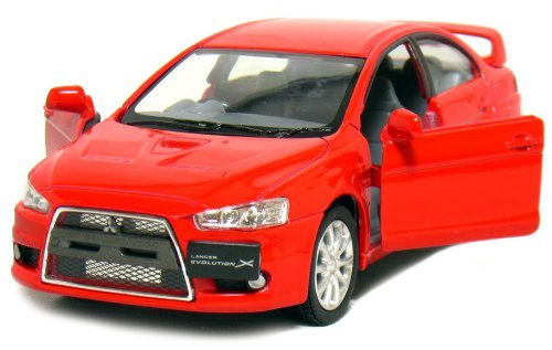 "Kinsmart 5"" 2008 Mitsubishi Lancer Evolution X 1:36 Scale (Red)"