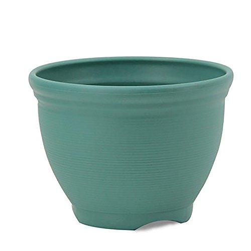 Flower Plant Pots Indoor Outdoor Planters, ( Large, Green ) (Outdoor Lightweight Pots Large)