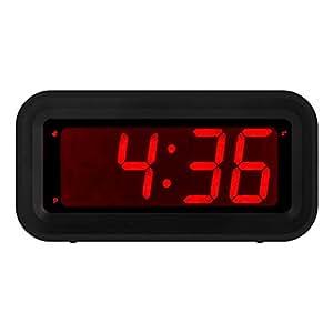 amazon com kwanwa led digital alarm clock battery operated only