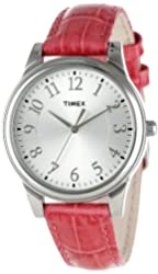 Timex Women's T2P1252M Pink Croco Patterned Leather Strap Watch