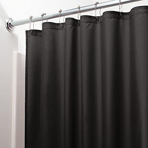 interdesign water repellent and mildew resistant fabric shower curtain 72 x 96 extra long. Black Bedroom Furniture Sets. Home Design Ideas