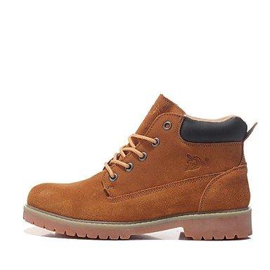 Love & zapatos de hombre y deber de trabajo/zapatos al aire libre/oficina y carrera/atlético/Casual botas de ante marrón/Caqui marrón