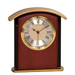 6 1/2 Mahogany Finish Gold Top Clock CUSTOM ENGRAVED/PERSONALIZED!!