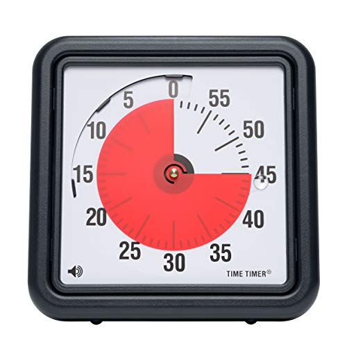 Time Timer Original 8 inch; 60 Minute Visual Timer - Classroom Or Meeting Countdown Clock for Kids and Adults (Black)