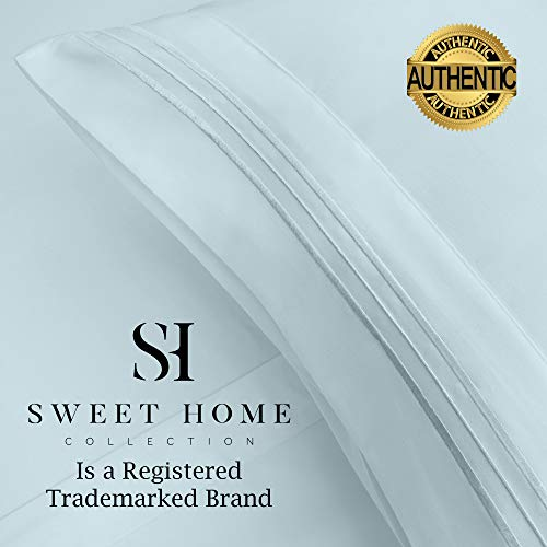 1500 Supreme Collection Extra Soft Twin XL Sheets Set, Light Blue - Luxury Bed Sheets Set with Deep Pocket Wrinkle Free Hypoallergenic Bedding, Over 40 Colors, Twin XL Size, Light Blue