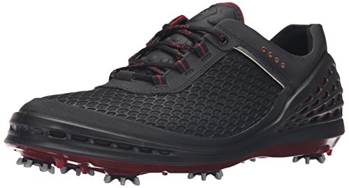 (ECCO Men's CAGE Sport-M, Black/Red, 45 EU/11-11.5 M US)