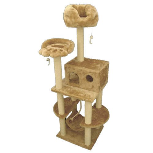 76″ CASITA – FUR Cat Condo tree Furniture Tower, My Pet Supplies