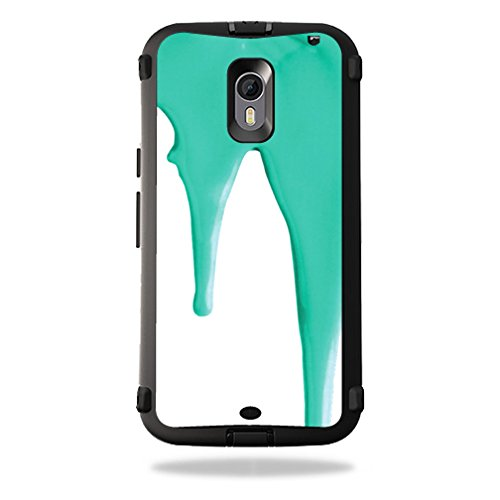 UPC 757572710911, MightySkins Protective Vinyl Skin Decal for OtterBox Defender Moto X Pure Edition wrap cover sticker skins Teal Drips