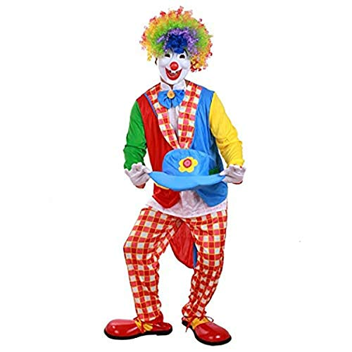 Zooka Holiday Funny Clown Costumes Cospaly Clown Clothes Suit Costume Party Dress Christmas Adult Woman/Man Joker Costume ()