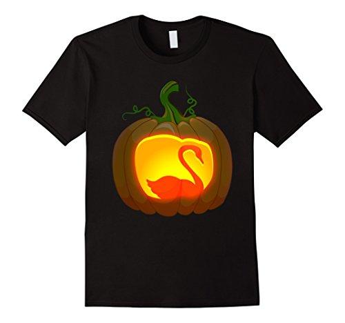 Halloween Black Costume Swan Male (Mens swan Bird Halloween shirt Medium)